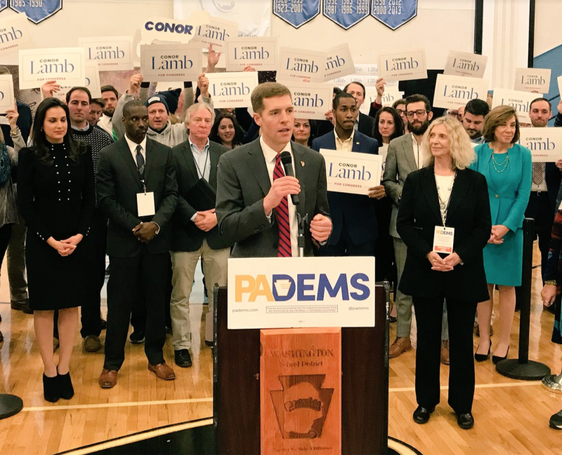 Democrats selected Conor Lamb to run for the congressional seat vacated by former Rep. Tim Murphy (R-Pa.).