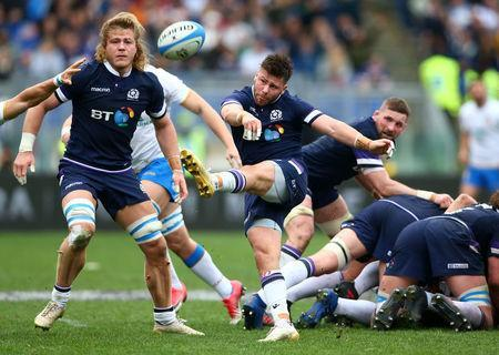 Rugby Union - Six Nations Championship - Italy vs Scotland - Stadio Olimpico, Rome, Italy - March 17, 2018 Scotland's Ali Price in action REUTERS/Alessandro Bianchi