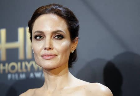 File photo of Angelina Jolie backstage at the Hollywood Film Awards in Hollywood
