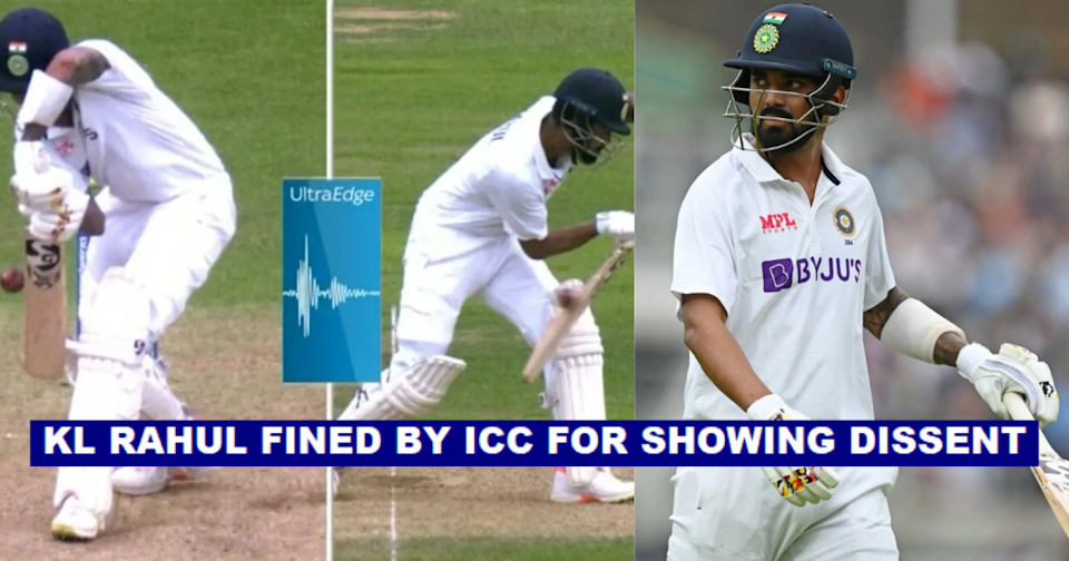 KL Rahul Fined By ICC For Showing Dissent