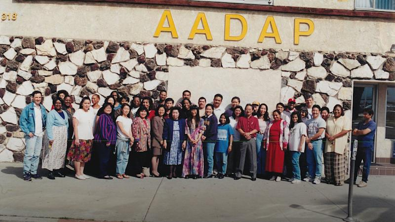 The staff of AADAP in the mid-1990s. (Photo: Credit: Asian American Drug Abuse Prevention)
