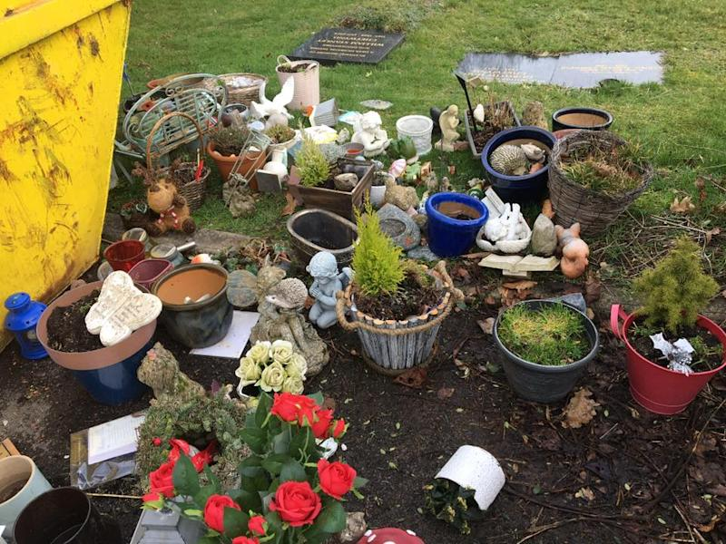 Flowers, photos, and keepsake ornaments were removed from graves by South Bucks Council