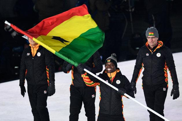 Akwasi Frimpong was the lone Ghanaian competing in PyeongChang.