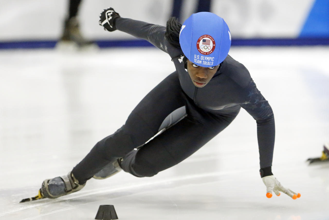 <p>Eighteen year old Maame Biney already made history before even setting foot in PyeongChang. The Ghana-native, who competes for the United States, is the first African American Woman to make the U.S. Speed Skating team. If she medals, she'll add that to her list of history making accomplishments. </p>