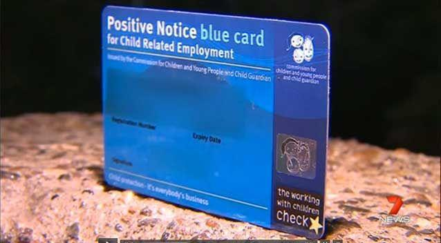 The Public Safety Business Agency can't reveal if the man held a blue card but anyone working with children is required to have one in Queensland. Photo: 7 News