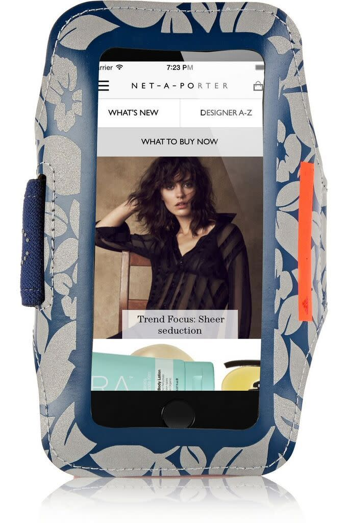 "<p>Keep your phone high and dry with this chic, neoprene band! <a href=""http://www.net-a-porter.com/us/en/product/582998?cm_mmc=LinkshareUS-_-i*0sejpE9jI-_-Custom-_-LinkBuilder&siteID=i.0sejpE9jI-AJYKUsUp5DlnjOymC6Z51w"" rel=""nofollow noopener"" target=""_blank"" data-ylk=""slk:Armband"" class=""link rapid-noclick-resp"">Armband</a> ($40)</p>"