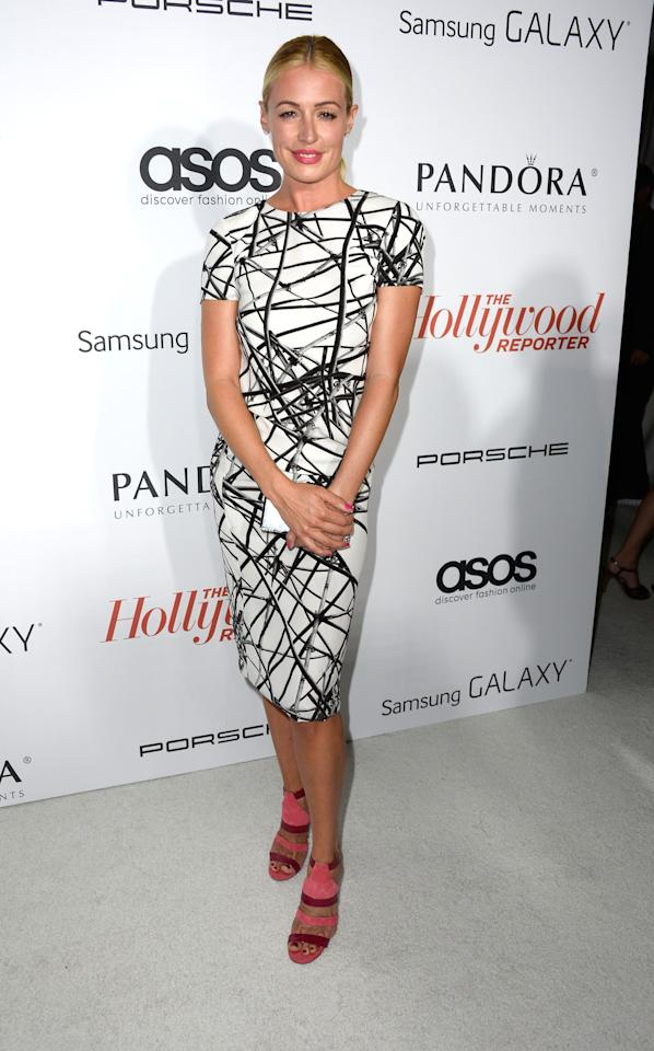 WEST HOLLYWOOD, CA - SEPTEMBER 19: Television Host Cat Deeley arrives at The Hollywood Reporter's Emmy Party at Soho House on September 19, 2013 in West Hollywood, California. (Photo by Frazer Harrison/Getty Images)