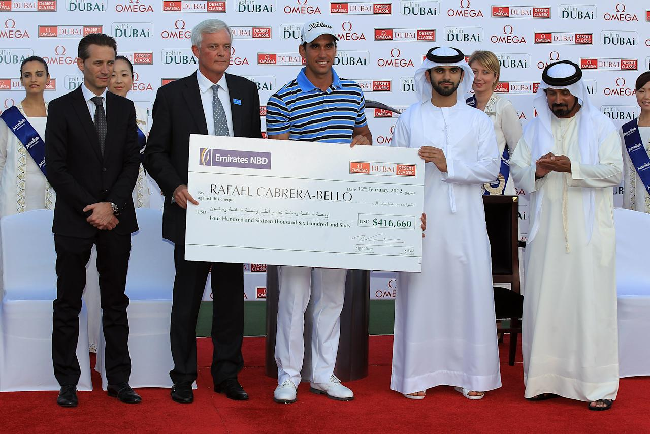 The Omega Dubai Desert Classic Golf Open was won by Spain's Rafael Cabrera-Bello.