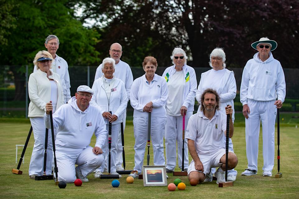 Peterborough and Northampton Croquet clubs battled it out to decide the pronunciation of the river, with Northampton winning. (SWNS)