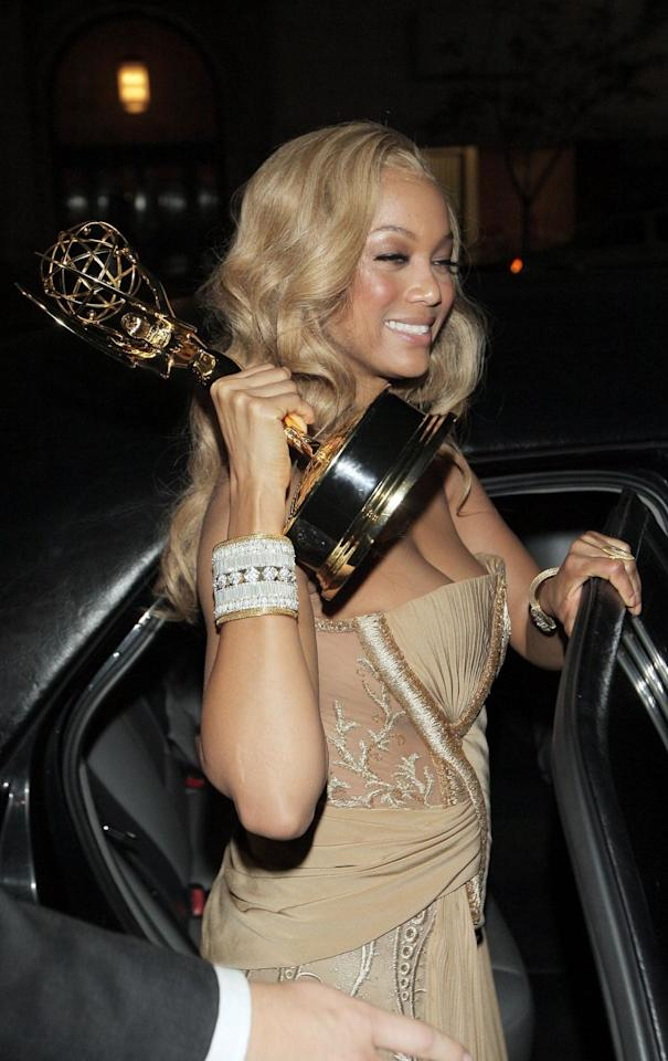 <p>The supermodel-turned-talk show host won two Daytime Emmy's in the Outstanding Talk Show Informative category as a producer on <em>The Tyra Banks Show</em>, which ran from 2005–2010.</p>