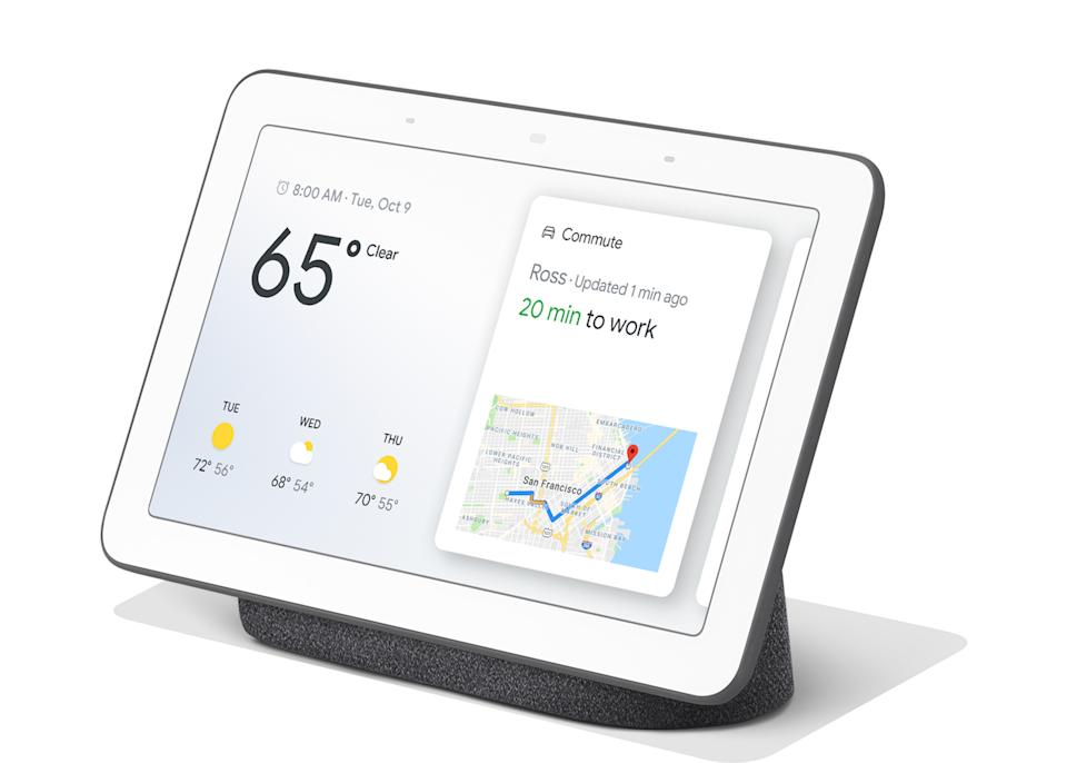"""For sons and daughters out there prepared to splash out this year, the Google Home Hub is designed to impress. From work commute advice to the impressive transformation into a digital photo frame, we kind of want one too. <a href=""""https://go.skimresources.com?id=134214X1597530&xs=1&url=https%3A%2F%2Fwww.johnlewis.com%2Fgoogle-home-hub-hands-free-smart-speaker-with-7-screen%2Fp3823748%3Fsku%3D237793419%26s_kwcid%3D2dx92700043003355197%26tmad%3Dc%26tmcampid%3D2%26gclid%3DCj0KCQjwxYLoBRCxARIsAEf16-tAG4P548QH6rzo57ggs9RAz_B12PophroPjXNcXjmJ8YFAwQoWeNEaApj7EALw_wcB%26gclsrc%3Daw.ds"""" rel=""""nofollow noopener"""" target=""""_blank"""" data-ylk=""""slk:Buy now"""" class=""""link rapid-noclick-resp""""><em>Buy now</em></a>."""