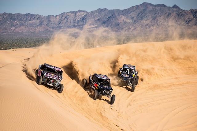 """Blade Hildebrand, Mitch Guthrie y Seth Quintero, miembros del equipo Red Bull Junior Off-Road <span class=""""copyright"""">Red Bull Content Pool</span>"""