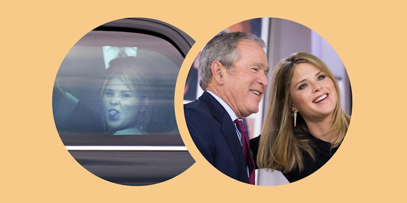 Jenna reflects on dad George W. Bush's reaction to her famous tongue photo