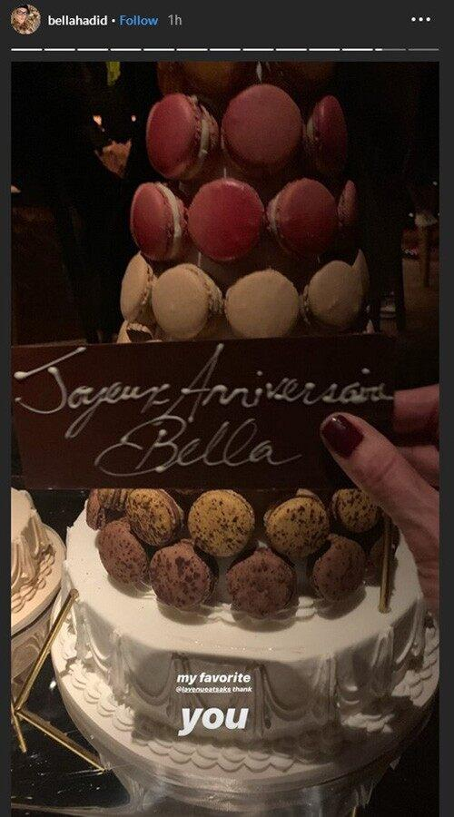 Bella Hadid's birthday cake