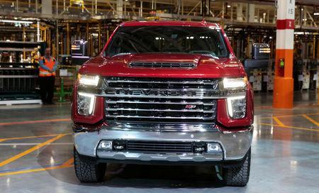 General Motors Co. introduces the Chevrolet 2020 Silverado HD pickup truck at the GM Flint Assembly Plant in Flint, Michigan, U.S. February 5, 2019. REUTERS/Rebecca Cook