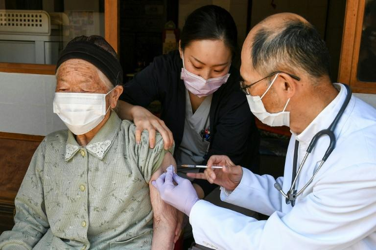 Japan only started vaccination of the elderly this month, after starting with medical workers in February