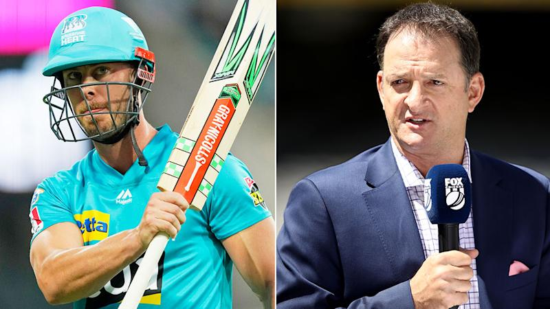 Pictured on the right, Mark Waugh said Chris Lynn had become fearful in his batting.