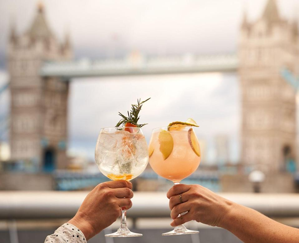 """<p>With riverside views of Tower Bridge, a trip out doesn't get more 'London' than this. Bask in the glory of our capital city as you dine on a <a href=""""https://www.tavolino.co.uk/menus/food/"""" rel=""""nofollow noopener"""" target=""""_blank"""" data-ylk=""""slk:Sicilian menu"""" class=""""link rapid-noclick-resp"""">Sicilian menu</a>, featuring saffron glazed monkfish, red prawn bucatini and even olive oil ice cream.</p>"""