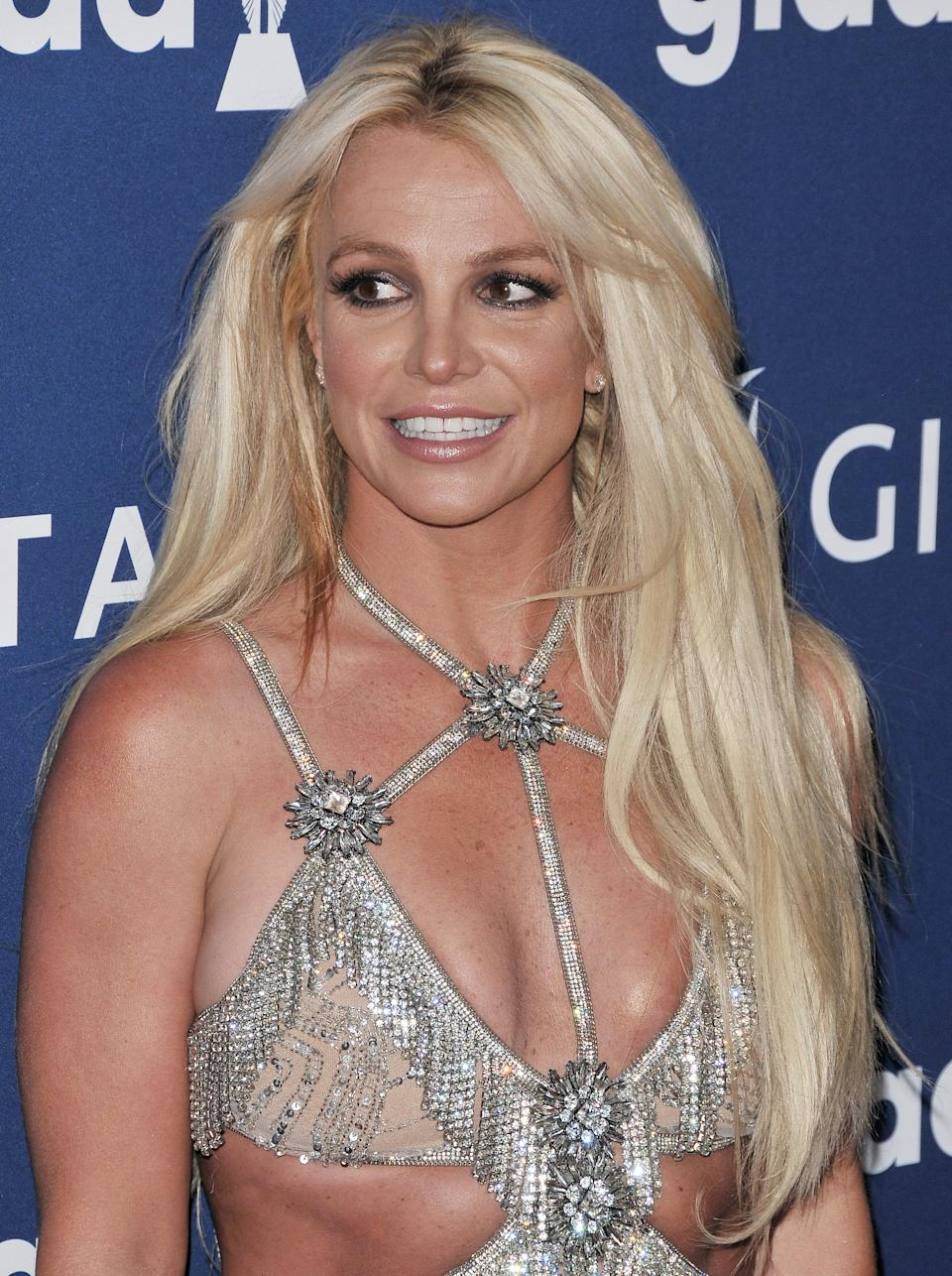 Britney Spears arrives at the 29th Annual GLAAD Media Awards held at The Beverly Hilton in Beverly Hills, CA on Thursday, April 12, 2018. (Photo By Sthanlee B. Mirador/Sipa USA)