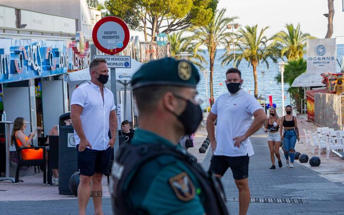 Tourists in Magaluf - AP