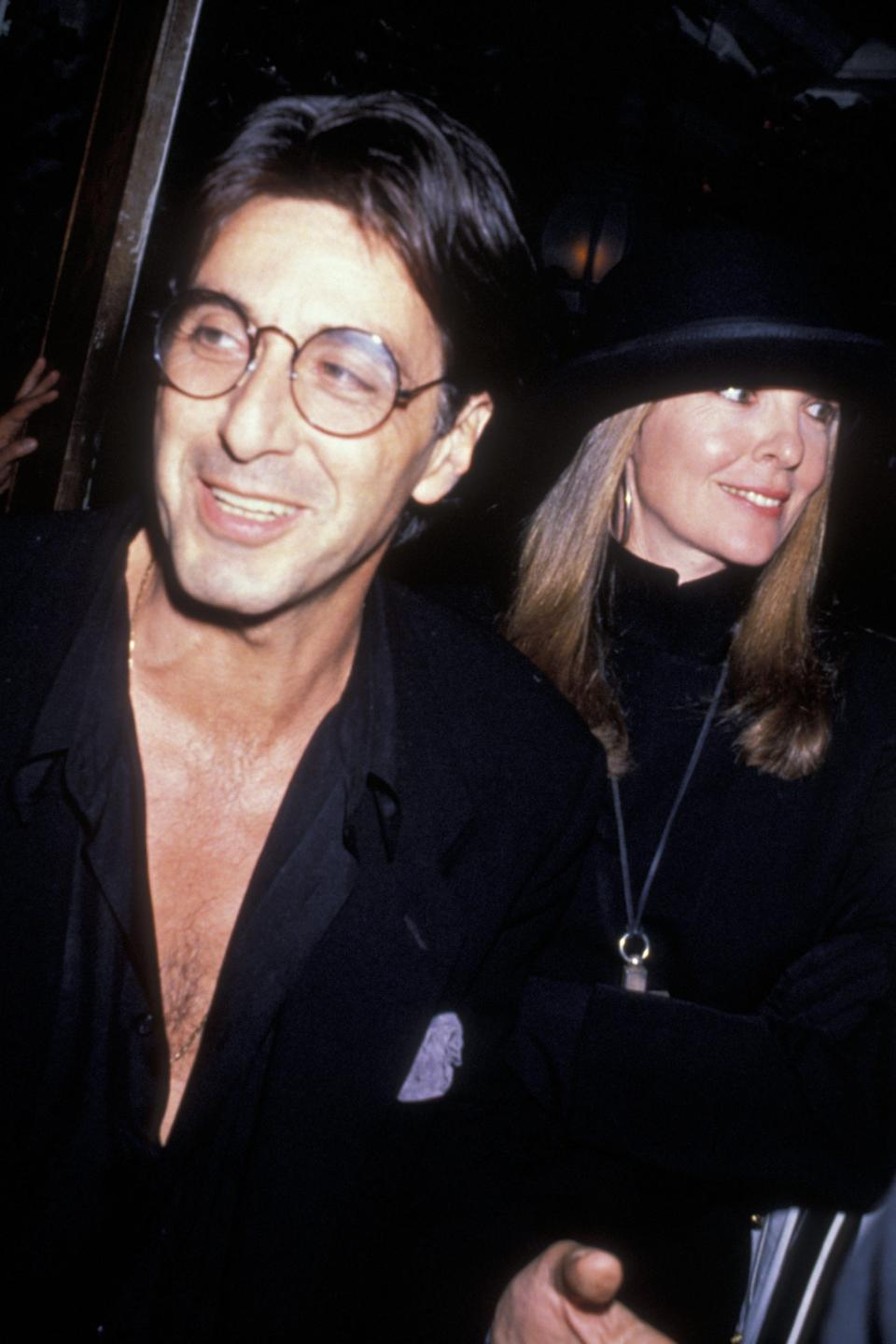 Pacino and Diane Keaton attend the premiere party for 'Sea of Love' on September 12, 1989, at Tavern on the Green in New York City.