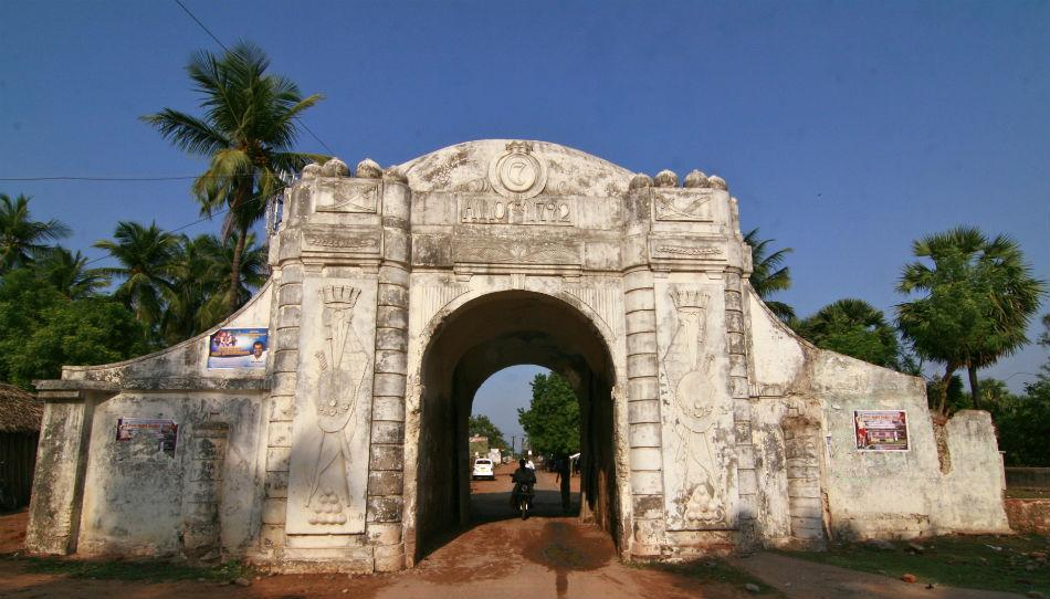 "The town gate, paint peeling off its walls, welcomes visitors to the time capsule of Tranquebar.<br><br>Read more about <a target=""_blank"" href=""http://in.lifestyle.yahoo.com/blogs/traveler/tranquebar-town-singing-waves-042732852.html"">Tranquebar</a> on the Traveler blog<br><br>Photo: Anand Yegnaswami/ <a target=""_blank"" href=""http://thegreenogre.blogspot.com"">The Green Ogre</a>"