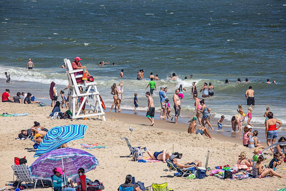 A lifeguard watches over the beach at Ocean City during Labor Day weekend last year.