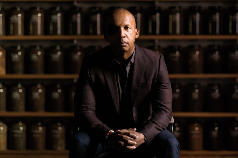 """This undated image released by HBO shows civil rights attorney Bryan Stevenson from the documentary""""True Justice: Bryan Stevenson's Fight for Equality,"""" airing Wednesday on HBO. The film examines the legacy of lynchings of African Americans in the U.S. to those who have wrongly sat on death row.  (Nick Frontiero/HBO via AP)"""