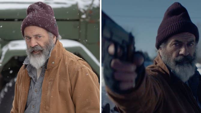 The actor reappears at the age of 64 as the protagonist of an unusual action comedy and black humor that has caught us off guard.  (Images: Saban Film)