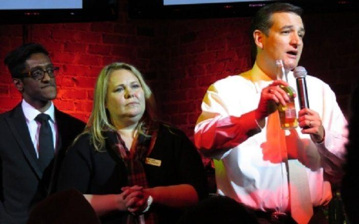 Ali Alexander, Blog Bash co-organizer Melissa Clouthier and Ted Cruz at Blog Bash in 2013. (Photo: YouTube)
