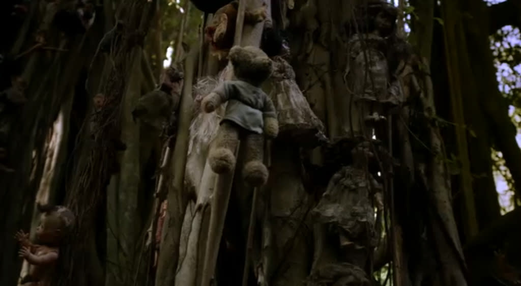 """<p><b>Creepy Baby Dolls (""""The River"""")</b><br><br>The show tried to freak us out with some found footage and supernatural creatures, but the only thing that continues to haunt our nightmare was that grove of dolls tied to trees. And the one that wouldn't stay put? We can hardly talk about it.</p>"""