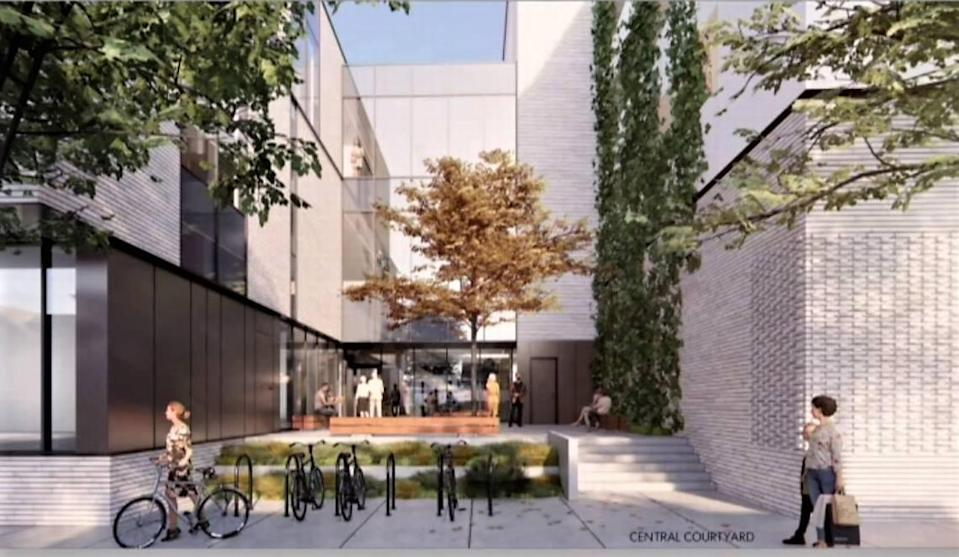 Plans for the Southern Branch Library include a central courtyard on the southern side of the building along Carr Street. The courtyard will offer additional space for people to meet, read and learn, project officials said.