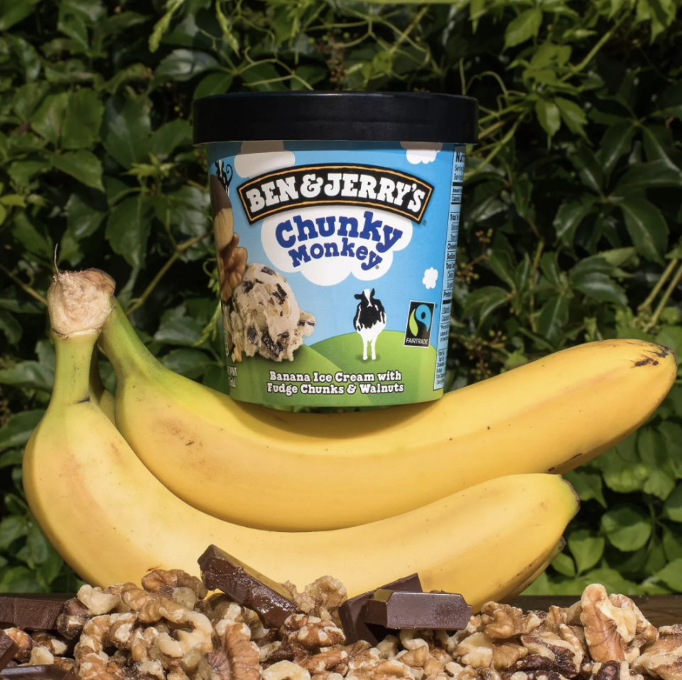 """<p>Chunky Monkey is often available at local ice cream shops which may be what makes the Ben & Jerry's flavor so nostalgic and delicious. Banana ice cream, fudge chunks, and walnuts...as one editor put it simply: """"Hell yes!""""</p>"""