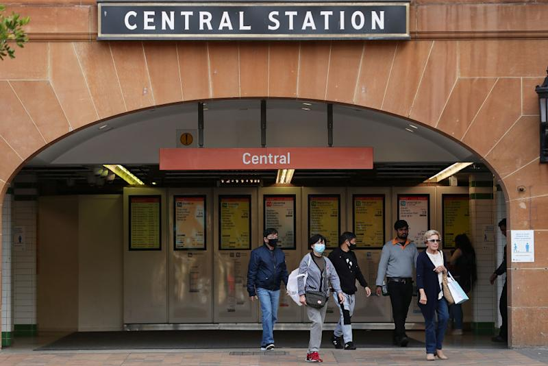 A stock image of Sydney's Central Station. A person infectious with coronavirus took 10 train and bus routes.