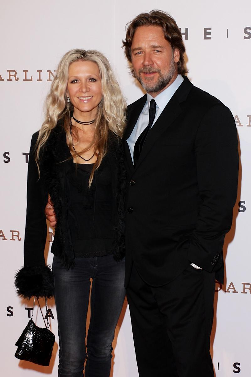 Russell Crowe and Danielle Spencer on October 25, 2011 in Sydney, Australia.