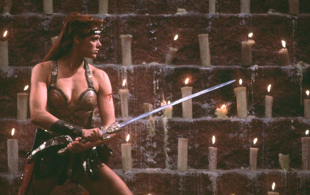 "<a href=""http://movies.yahoo.com/movie/contributor/1800035418"">Brigitte Nielsen</a>, ""<a href=""http://movies.yahoo.com/movie/1800110712/info"">Red Sonja</a>""<br><br>Flava Flav's former leading lady made a name for herself when she sported a mullet and assumed the role of the ""She-Devil with a sword"" alongside <a href=""http://movies.yahoo.com/movie/contributor/1800021514"">Arnold Schwarzenegger</a> in this box office bomb that set the stage for her successor, Xena: Warrior Princess."