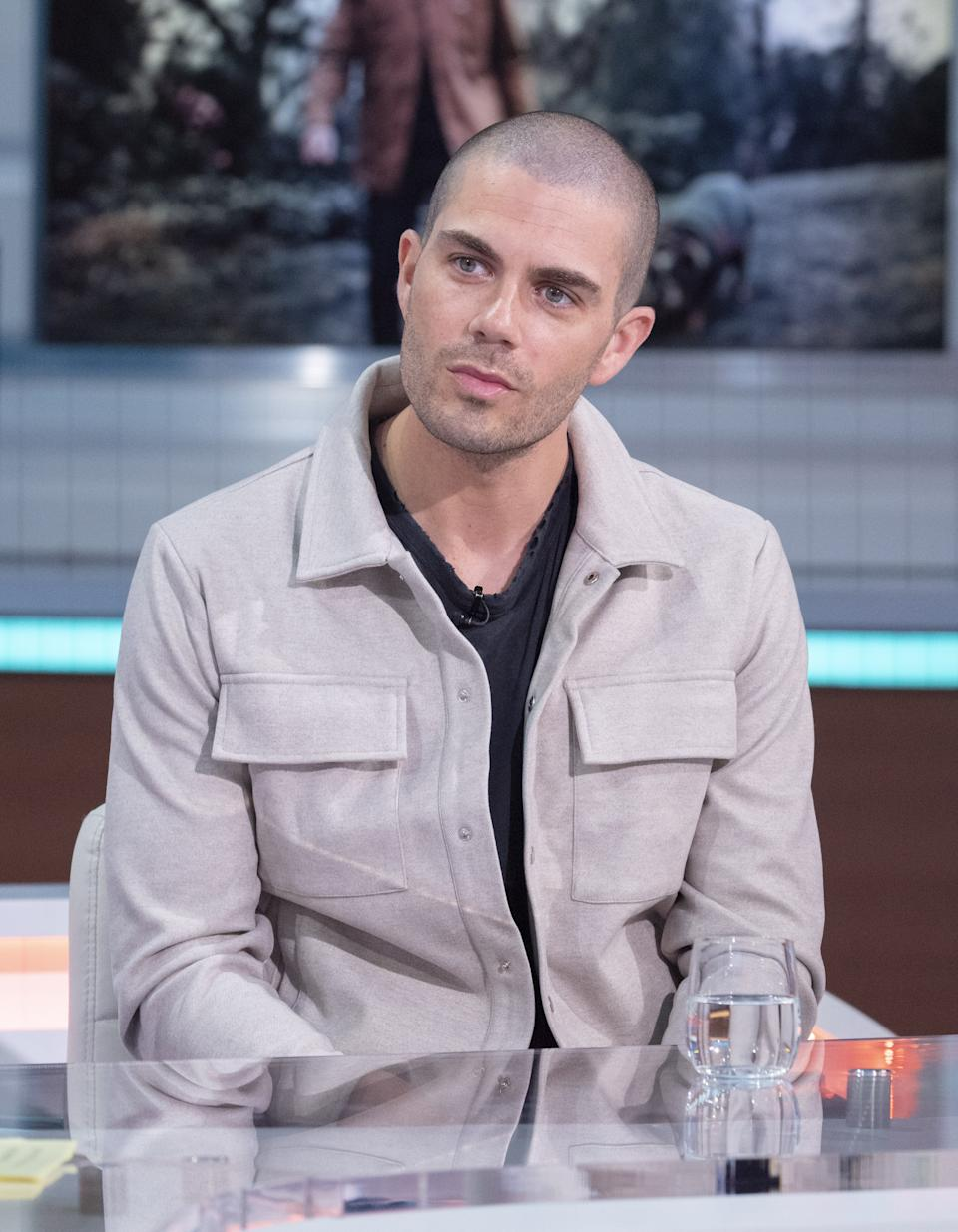 Editorial use only Mandatory Credit: Photo by Ken McKay/ITV/Shutterstock (11896775u) Max George 'Good Morning Britain' TV Show, London, UK - 10 May 2021