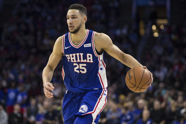 "<a class=""link rapid-noclick-resp"" href=""/nba/teams/phi/"" data-ylk=""slk:Philadelphia 76ers"">Philadelphia 76ers</a> phenom <a class=""link rapid-noclick-resp"" href=""/nba/players/5600/"" data-ylk=""slk:Ben Simmons"">Ben Simmons</a> is the best fantasy rookie in a deep class. (AP Photo/Chris Szagola)"