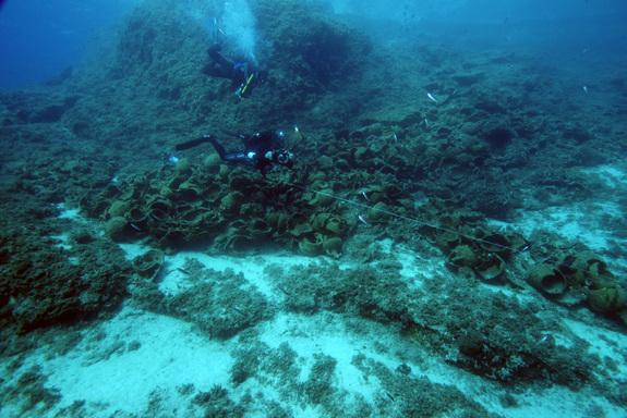 The remains of 22 shipwrecks, which comprised piles of cargo from the doomed vessels, have been discovered around the Greek archipelago of Fourni.