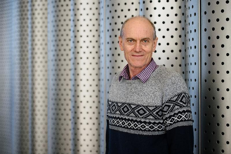 Professor Chris Stephenson poses for a photograph in central London on March 17, 2016