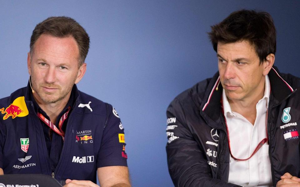 Christian Horner and Toto Wolff - AFP