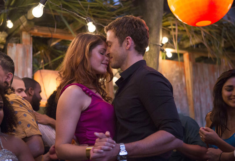 "This image released by 20th Century Fox shows Gemma Arterton, left, and Justin Timberlake in a scene from ""Runner Runner."" (AP Photo/20th Century Fox, Scott Garfield)"