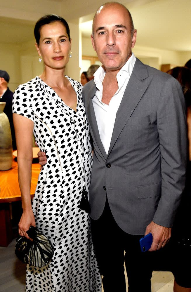 Annette Roque and Matt Lauer in August 2017.