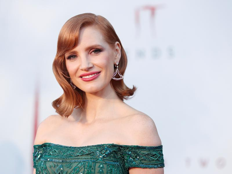"""Jessica Chastain attends the premiere for """"IT Chapter Two"""" in Los Angeles, California, U.S., August 26, 2019. REUTERS/Mario Anzuoni"""
