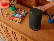 """<p><strong>Sonos</strong></p><p>bestbuy.com</p><p><strong>$299.99</strong></p><p><a href=""""https://go.redirectingat.com?id=74968X1596630&url=https%3A%2F%2Fwww.bestbuy.com%2Fsite%2Fsonos-move-smart-portable-wi-fi-and-bluetooth-speaker-with-alexa-and-google-assistant-black%2F6361922.p%3FskuId%3D6361922&sref=https%3A%2F%2Fwww.redbookmag.com%2Flife%2Fg34761881%2Fgift-ideas-for-men%2F"""" rel=""""nofollow noopener"""" target=""""_blank"""" data-ylk=""""slk:Shop Now"""" class=""""link rapid-noclick-resp"""">Shop Now</a></p><p>He loves the mobile, active lifestyle, but doesn't want to sacrifice tunes. Keep the vibes going with a smart wifi and blue-tooth speaker that is portable—so the party can move with him. </p>"""