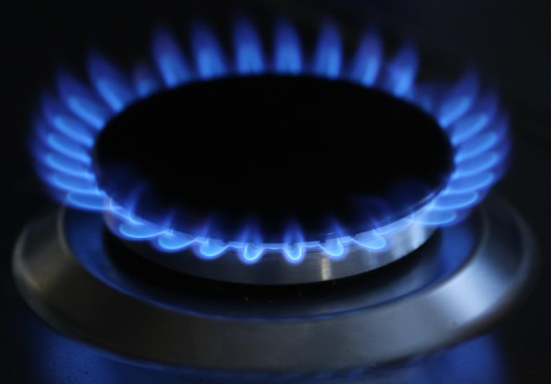 A general view of a gas hob burning as consumer groups are predicting that the UK's other major energy suppliers will raise prices after SSE announced an 8.2\% increase in domestic bills.