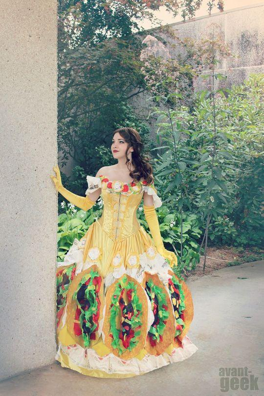 "<p>Olivia Mears, known now, to many, as ""Taco Belle,"" chose to flaunt her love of a certain <a href=""http://www.dailydot.com/lol/taco-belle-dress/"">Mexican-inspired fast food chain</a> by making a Disney-inspired costume covered in giant tacos and actual (unused!) wrappers. The tasty-looking gown went viral, and it's not hard to see why. I anyone else suddenly craving a Cheesy Gordita Crunch?</p>"