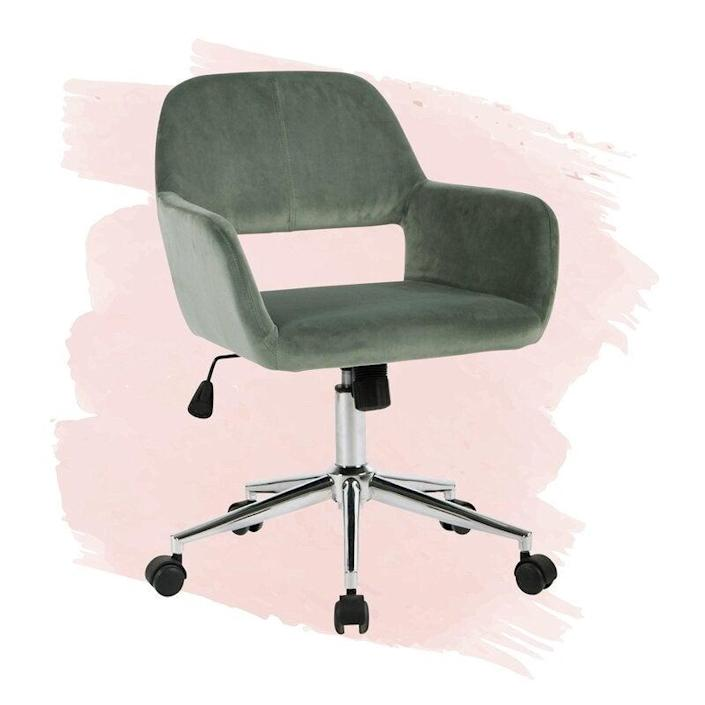 """<h2>Wade Logan Carvey Task Chair</h2><br>Wade Logan's eye-catching velvet task chair is the perfect combo of glam design and practical comfort. <br> <br><strong>The Hype</strong>: 4.5 out 5 stars and 4,858 reviews<br><br><strong>WFH Pros Say</strong>: """"This chair is perfect for the price. We needed an interim office so I didn't want to spend a ton on furniture. This chair looks good and it's comfortable. I also like that it raises up and down. I needed one that had the height to work with the console I purchased to use as a writing desk. I recommend it if you're looking for an on-trend piece that's comfortable and you only need it to last you a few years.""""<br><br><em>Shop</em> <strong><em><a href=""""https://www.wayfair.com/brand/bnd/wade-logan-b36989.html"""" rel=""""nofollow noopener"""" target=""""_blank"""" data-ylk=""""slk:Wade Logan"""" class=""""link rapid-noclick-resp"""">Wade Logan</a></em></strong><br><br><strong>Wade Logan</strong> Carvey Task Chair, $, available at <a href=""""https://go.skimresources.com/?id=30283X879131&url=https%3A%2F%2Fwww.wayfair.com%2Ffurniture%2Fpdp%2Fwade-logan-carvey-task-chair-w001834606.html"""" rel=""""nofollow noopener"""" target=""""_blank"""" data-ylk=""""slk:Wayfair"""" class=""""link rapid-noclick-resp"""">Wayfair</a>"""