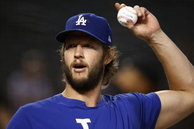 Getting Clayton Kershaw back would greatly help the Dodgers' chances. (AP Photo/Ross D. Franklin)