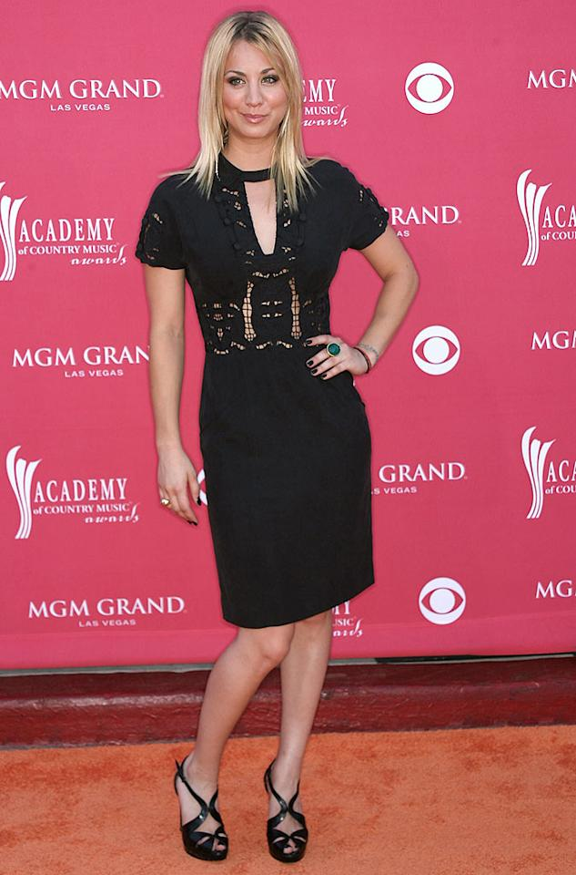 """Actress Kaley Cuoco's chunky heels and dark attire stood out ... in a bad way. Frederick M. Brown/<a href=""""http://www.gettyimages.com/"""" target=""""new"""">GettyImages.com</a> - May 18, 2008"""
